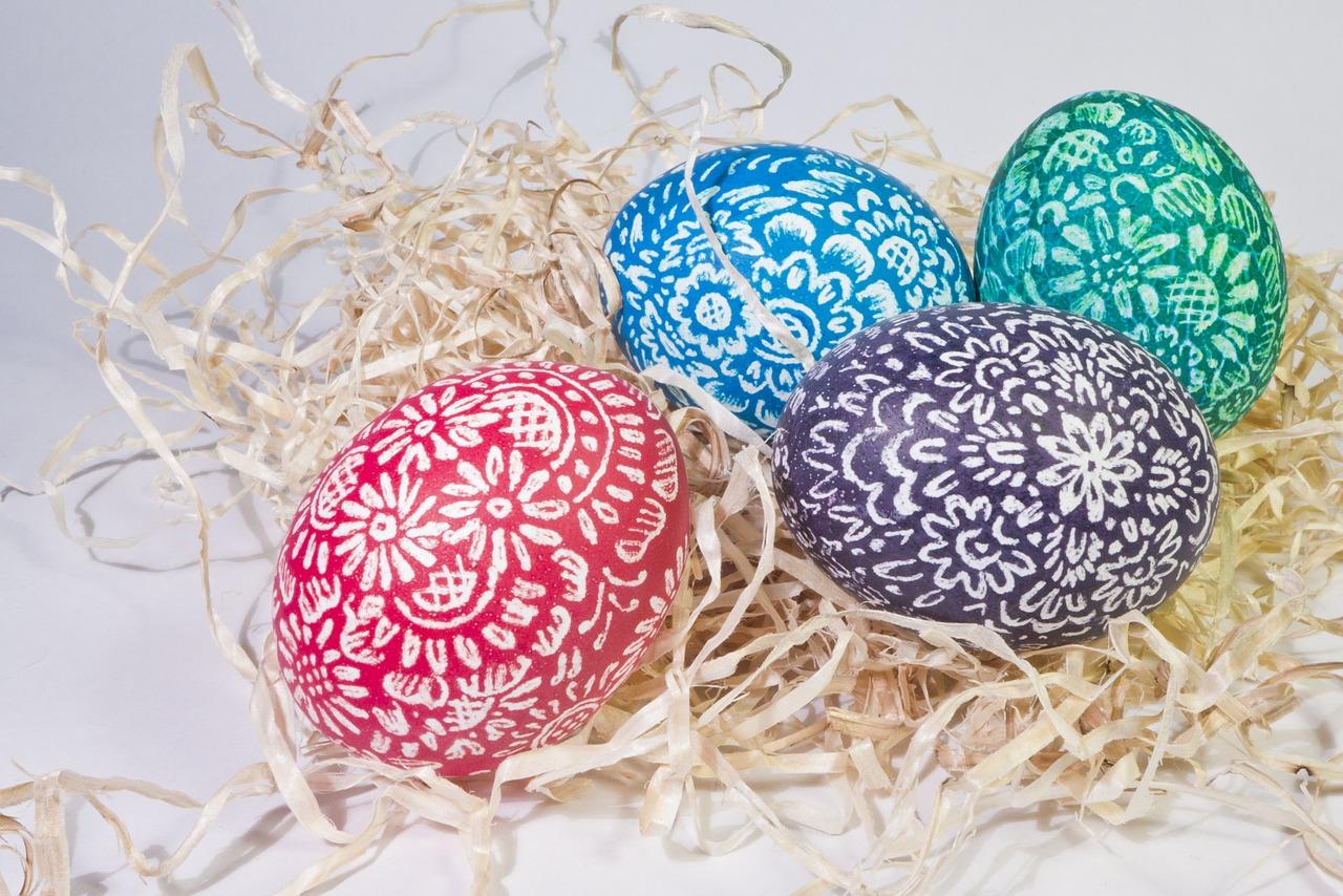 Image: Easter eggs via Shutterstock
