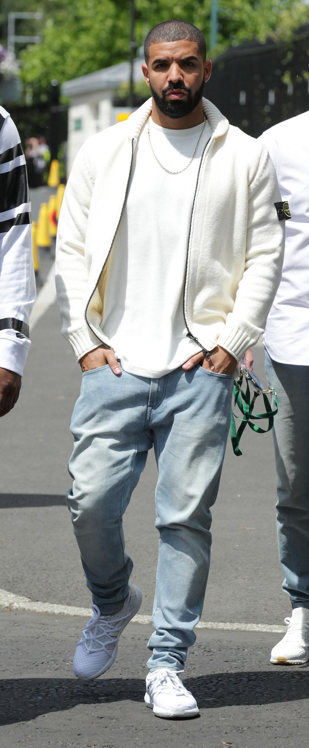 Drake (Aubrey Drake Graham ) seen at Wimbledon Championships on Jul 11, 2015 in London (Twocoms/Shutterstock)