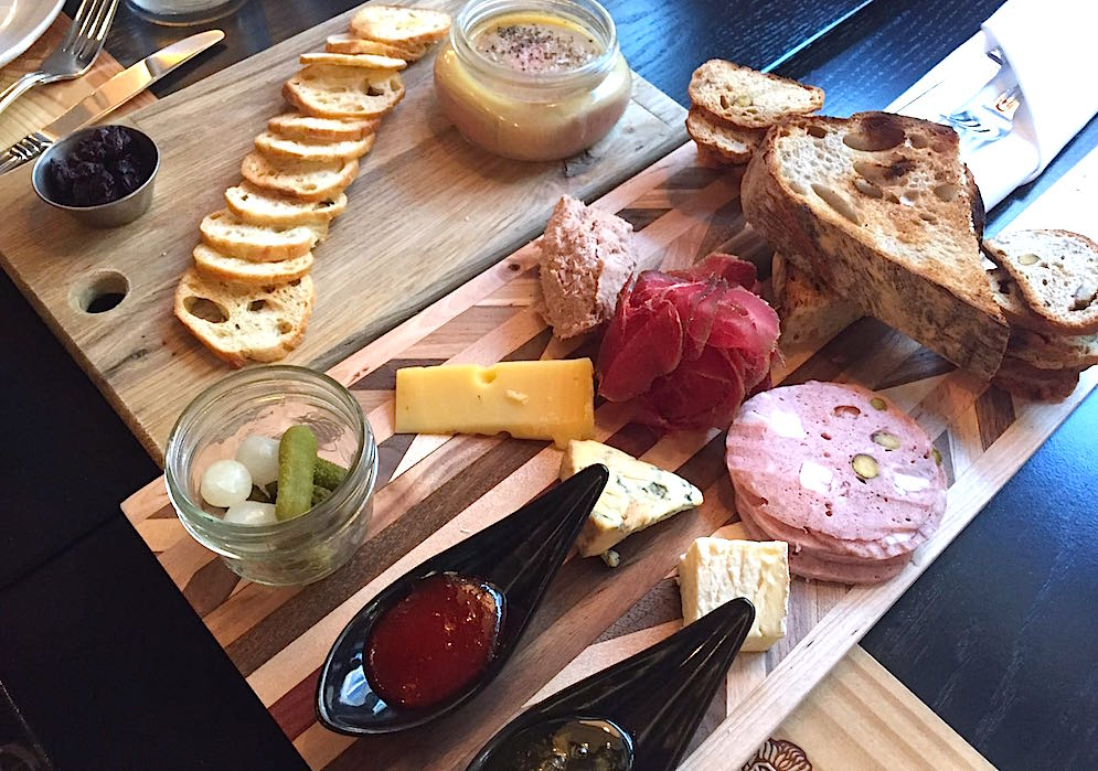 Duck liver parfait and Charcuterie & cheese (Calgary Buzz)