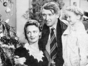 A shot from the original, iconic movie It's A Wonderful Life (Public Domain)