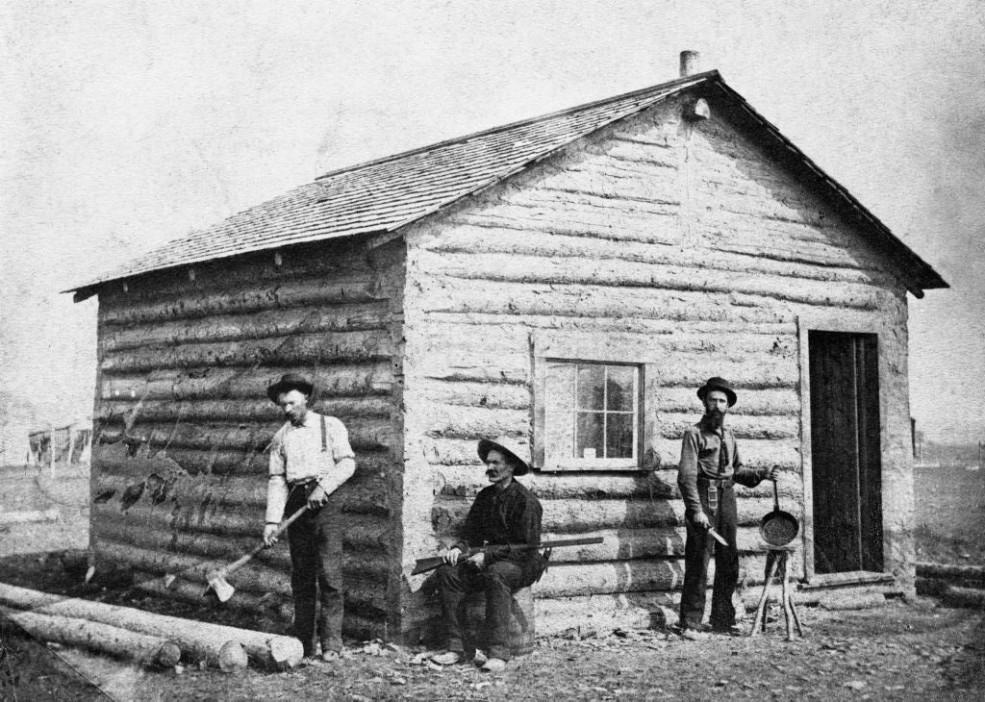 George Murdoch's log shack - September 3-4, 1883 / Image: NA-1728-1 / Glenbow Archives
