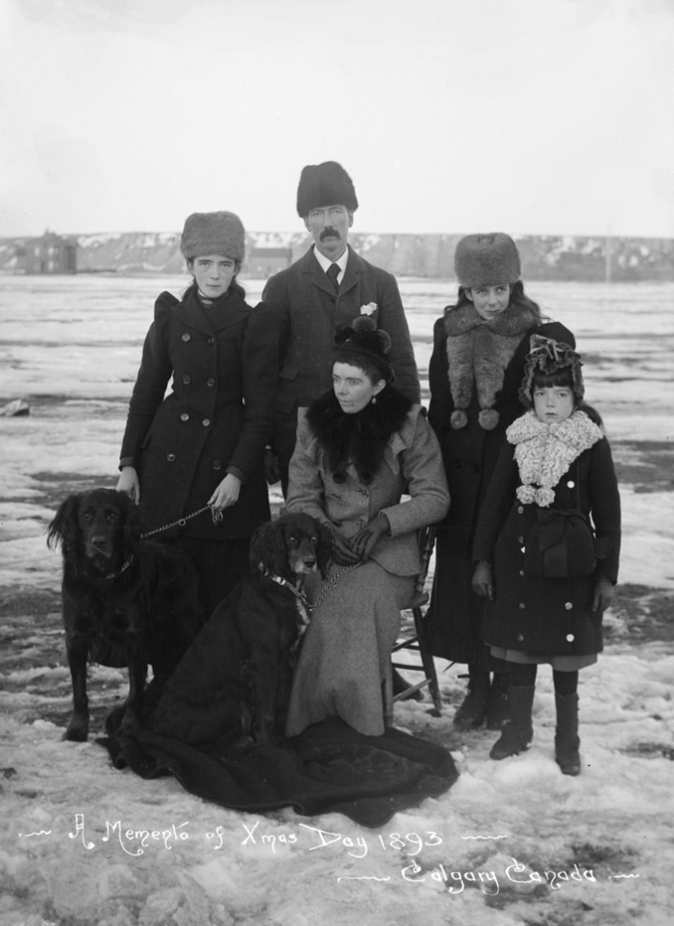 George Barclay Bruce family on Christmas Day - December 25, 1893 / Image: NC-22-70 / Glenbow Archives