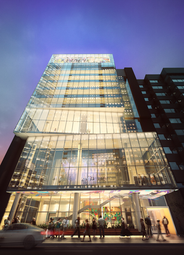 Image: Rendering of the outside of the building - Kahanoff II tower
