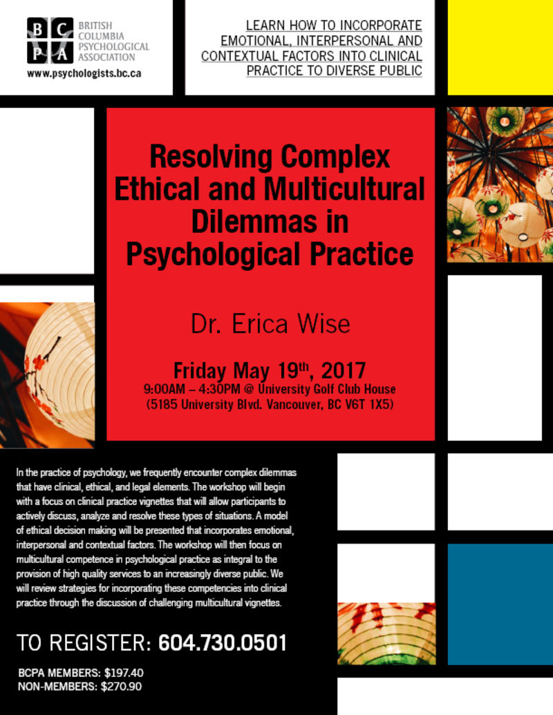 multicultural ethical psychology Multicultural issues in psychology ethical standards department of psychology views multicultural psychology as encompassing not only the.