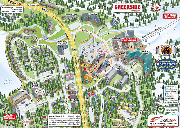 Creekside Map Vacation Tips