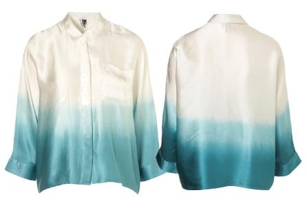 Topshop silk ombre shirt