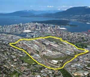 Vancouver's 308-acre False Creek Flats industrial zone.
