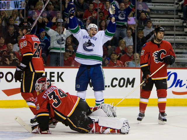 Canucks vs Flames