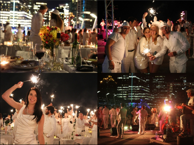Diner en Blanc Vancouver at Night