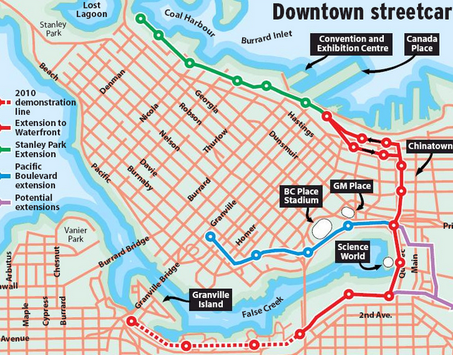 Vancouver's proposed streetcar network