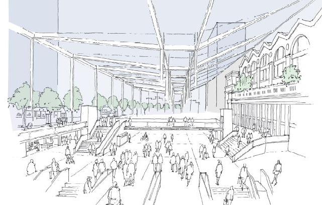 Rendering of Future Transit Concourse