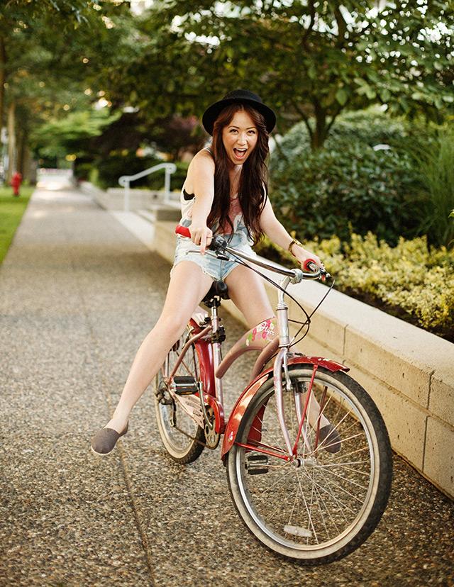 DJ Yurie Vancouver biking