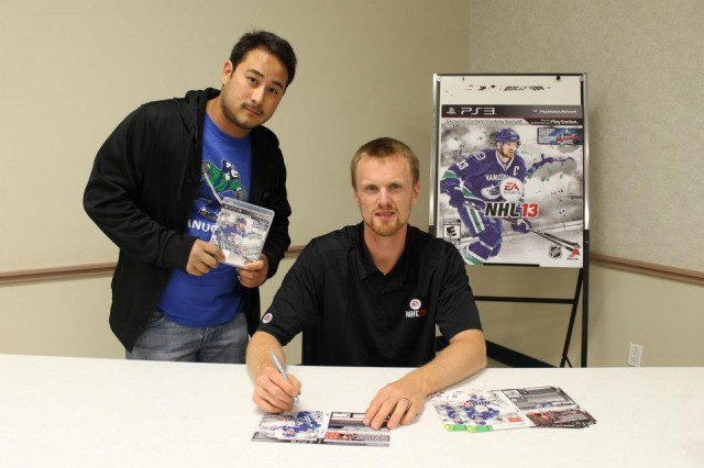 Henrik Sedin NHL 13 midnight launch