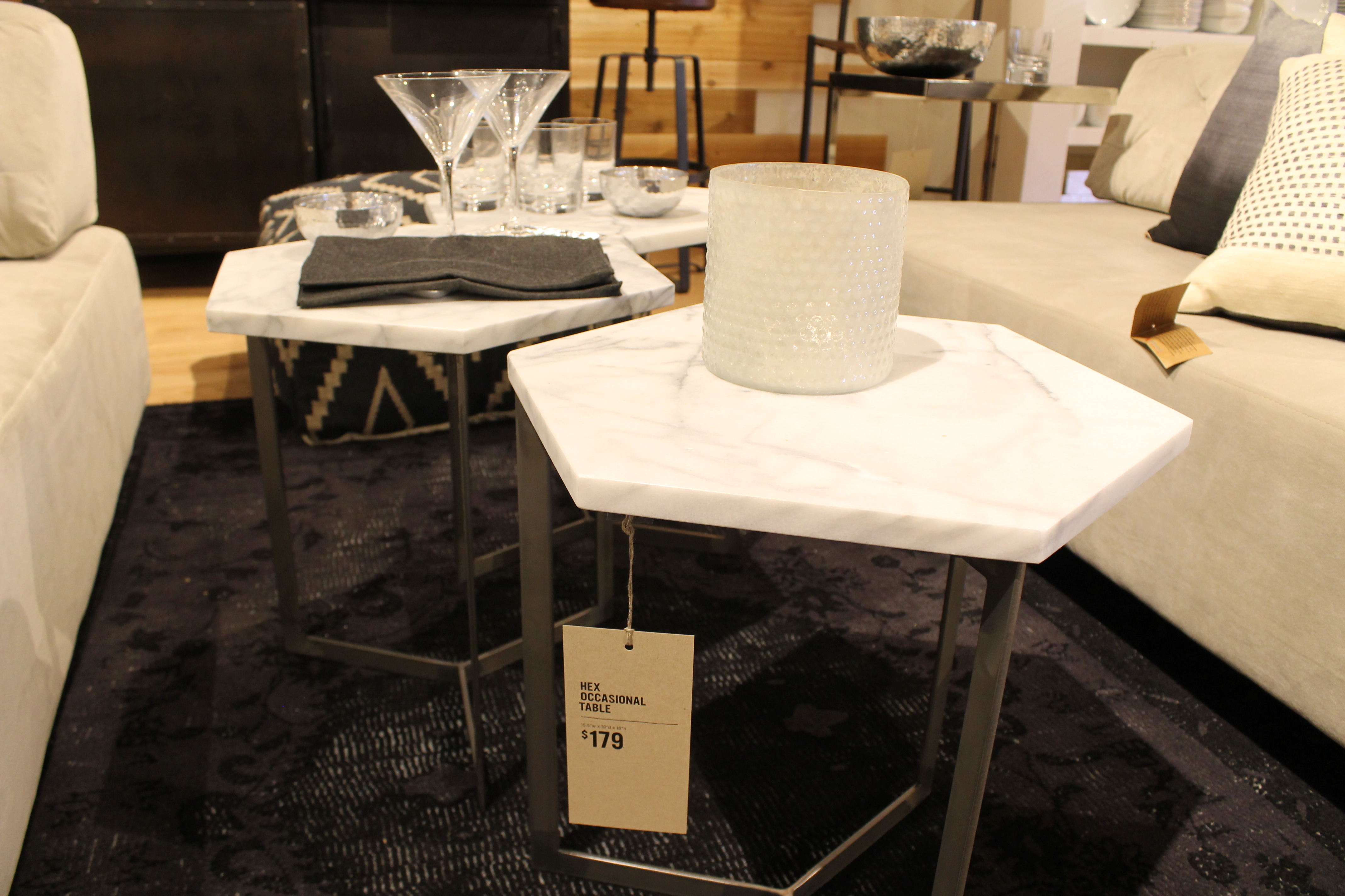 Coffee Tables West Elm Stone Gorgeous Hexagon Occasional