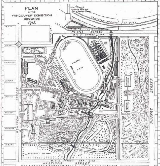 Hastings Park Plan in 1915