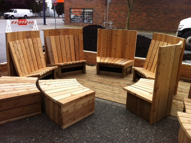 Hot Tub benches Fraser Street Vancouver