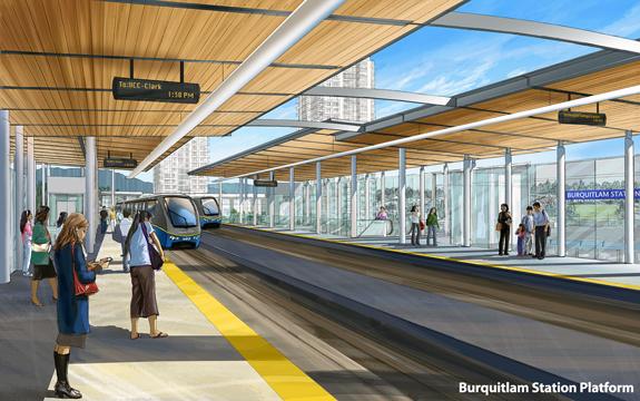 Burquitlam Station Platform SkyTrain Evergreen Line