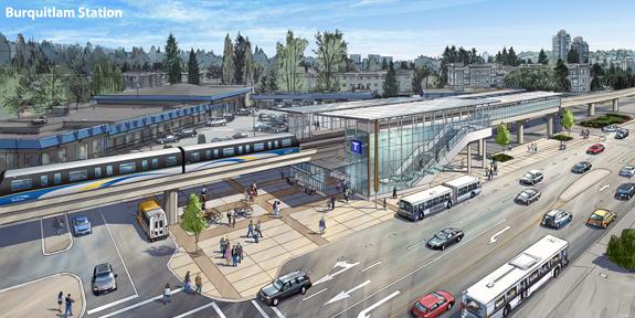 Burquitlam Station SkyTrain Evergreen Line