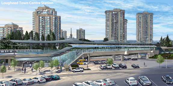 Lougheed Station SkyTrain Evergreen Line