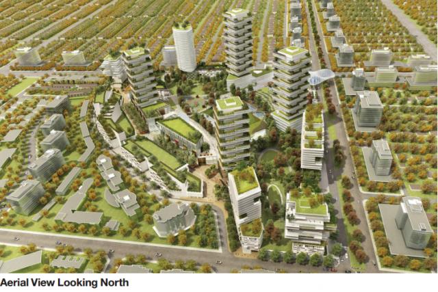 Aerial View Oakridge Centre redevelopment
