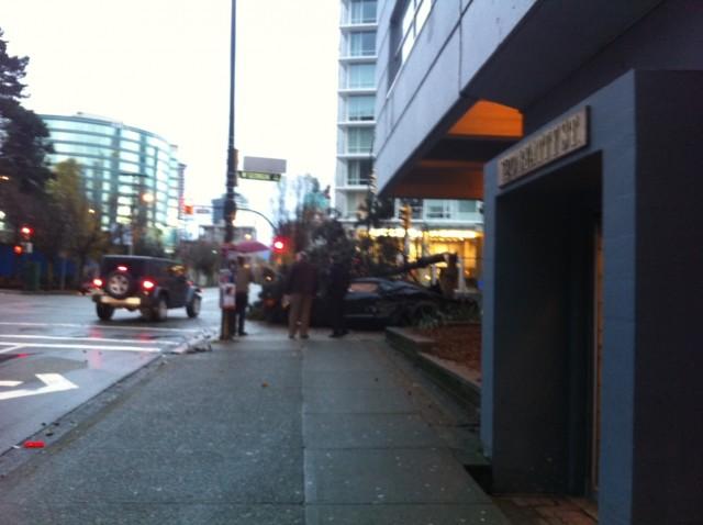 Luxury cars crash Vancouver