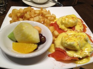 Brunch Spot Food: Smoke Salmon Bennies at Tangent Cafe