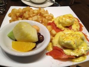 Brunch Spot Food: Smoke Salmon Bennies at Tangent Cafe