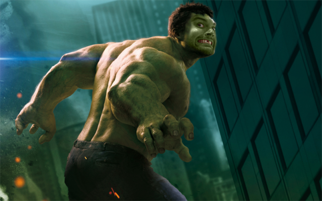 Zack Kassian as The Hulk