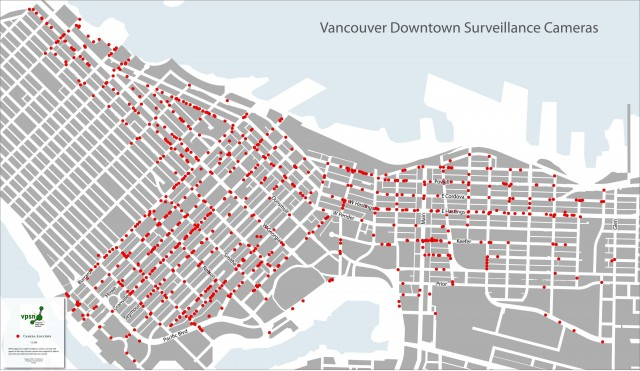 CCTV Map of Vancouver