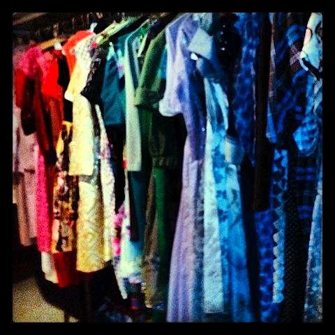 Liz Dubney's closet of 1920s to 1960s dresses