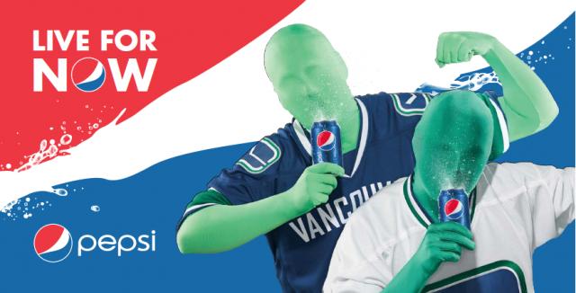 Green Men Pepsi Canucks