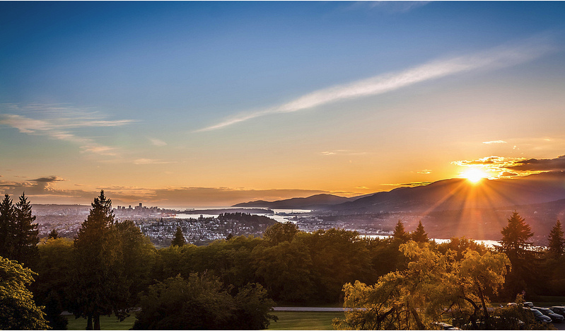 Sunset from Burnaby Mountain
