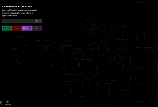 Blackberry Vancouver Map