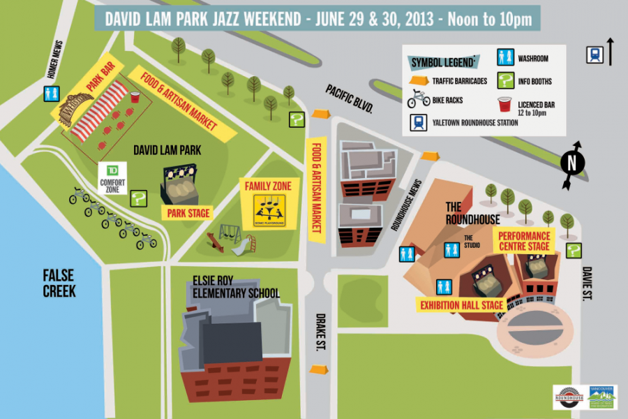 David Lam Park Jazz Weekend map