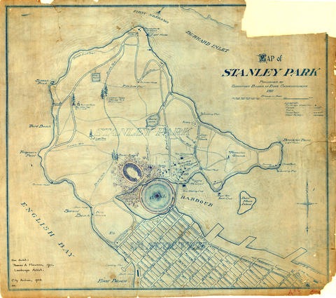 1911 map of stanley park