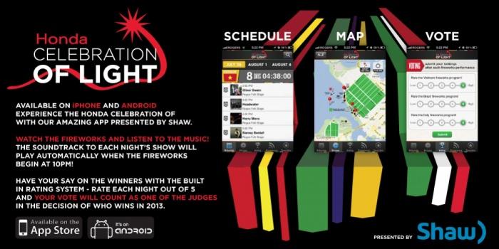 Celebration of Light Mobile App