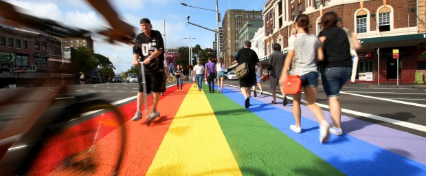 Rainbow crosswalk - Sydney