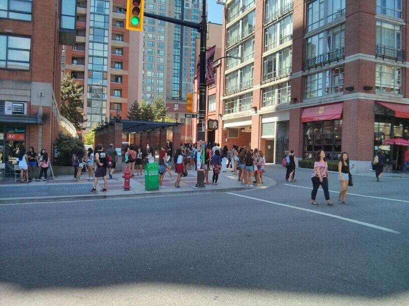 One Direction fans outside Opus Hotel