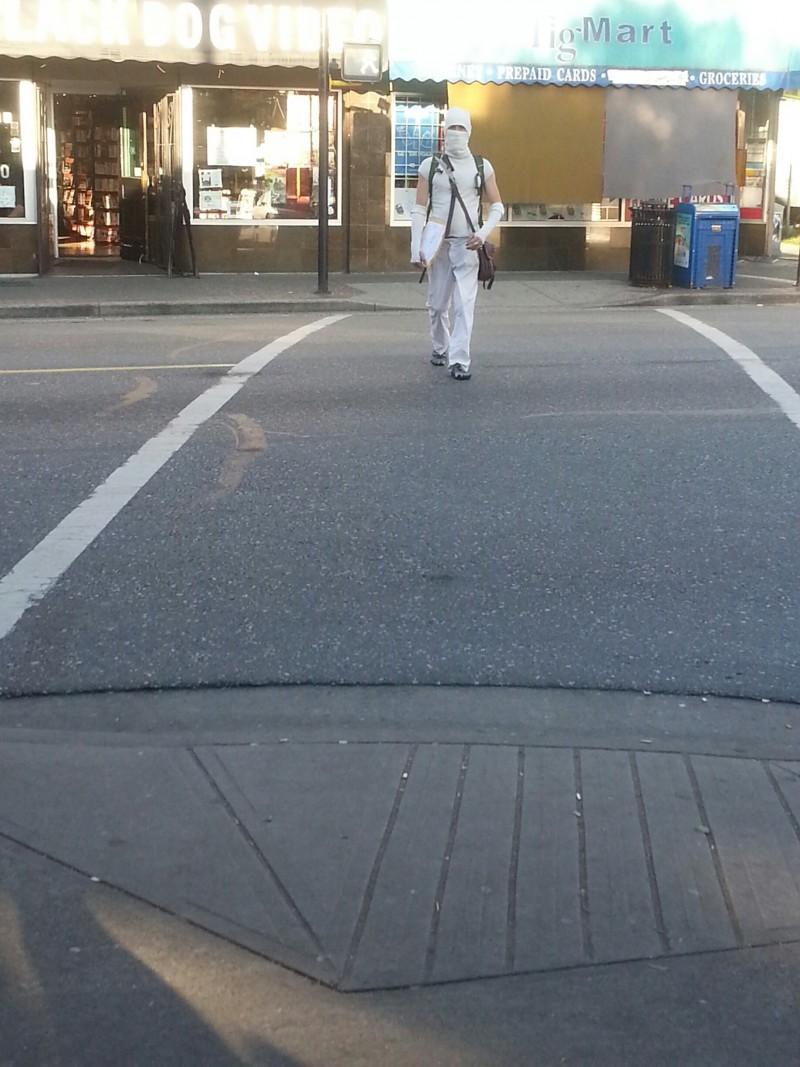 Ninja on Vancouver Streets