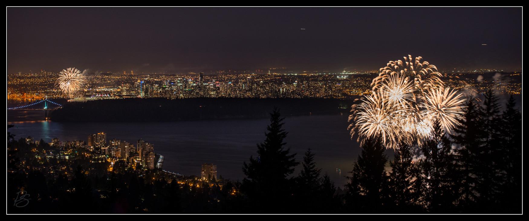 Canada Day Burrard Inlet Fireworks