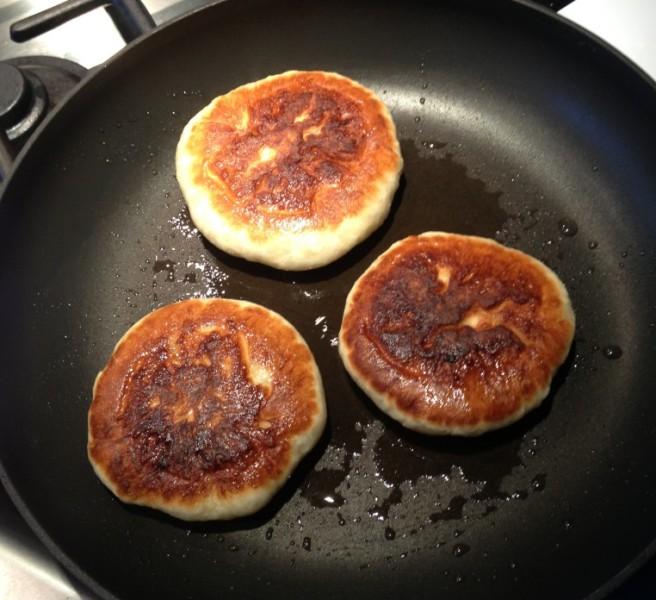 Pan cooked