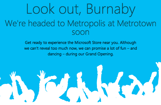 Metrotown Microsoft Store