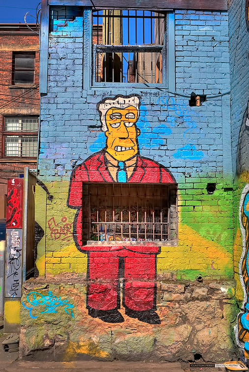 The Simpsons Vancouver Mural