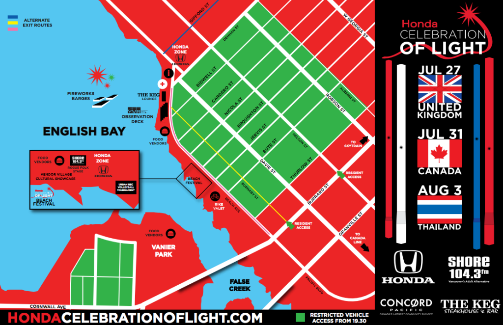 Celebration of Light 2013 Map