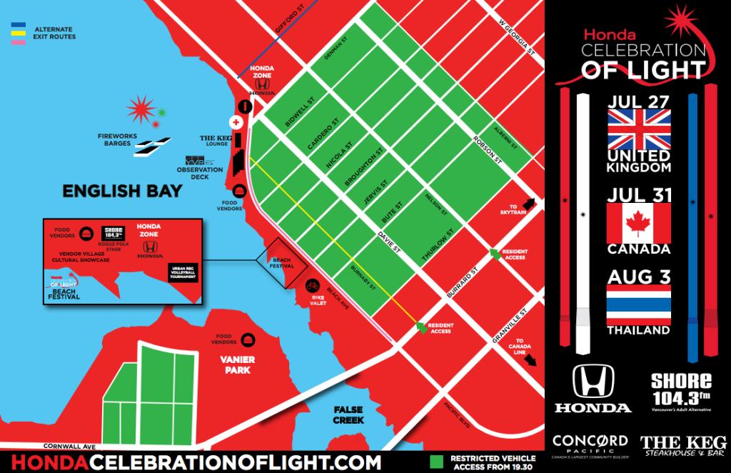 Celebration of Light 2013 Map