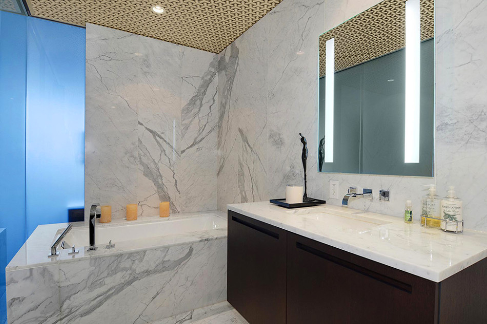 Vancouver Marble Bathroom Penthouse