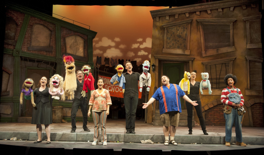 The cast of Avenue Q. Photo by Emily Cooper.