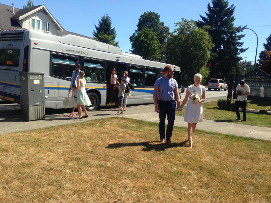 Pubic Transit Wedding On Bus