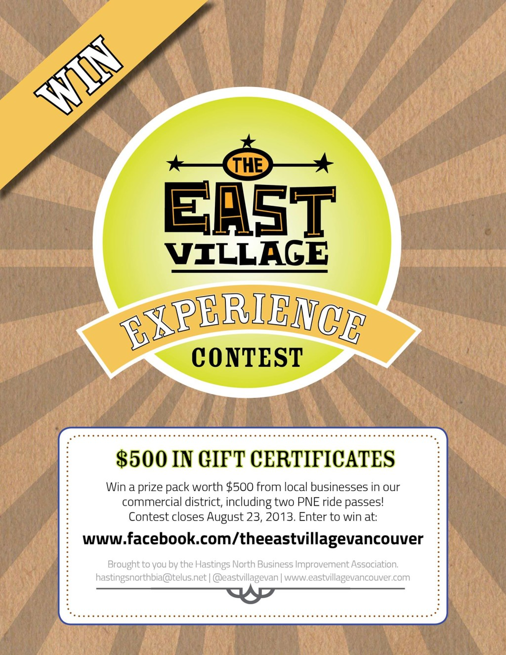 East Village contest