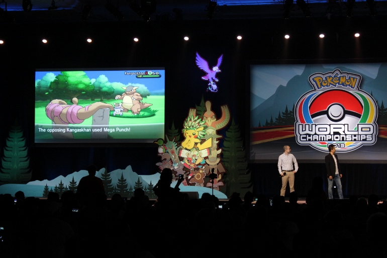 A preview of a battle in Pokemon X and Y is shown